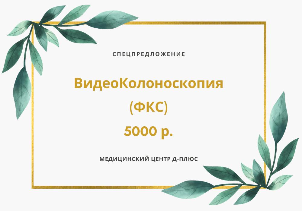Видеоколоноскопия — 5000 р.