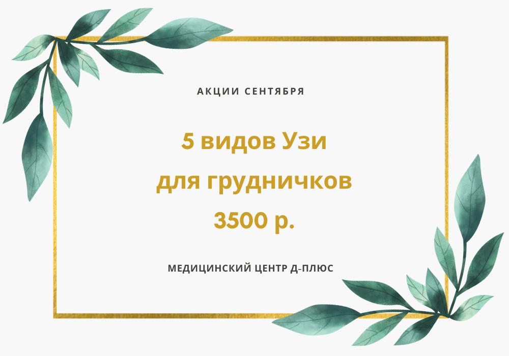 УЗИ-комплекс для грудничков (5 видов УЗИ) – 3500 р.